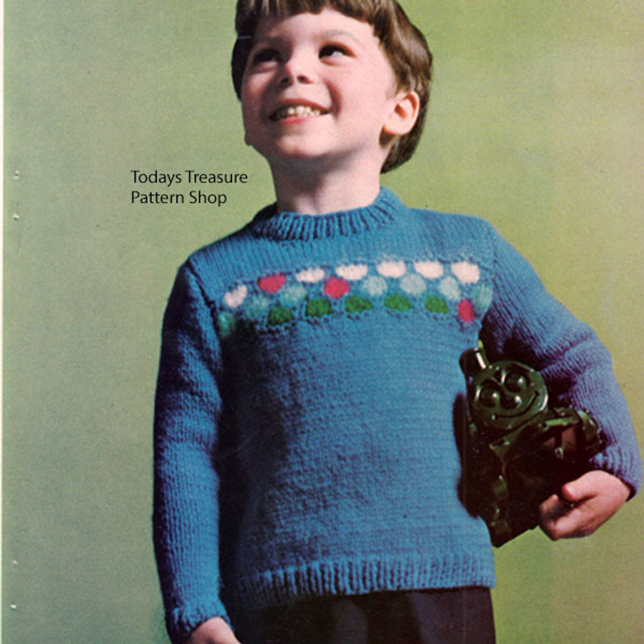 Boys Knitted Long Sleeve Cardigan Pattern