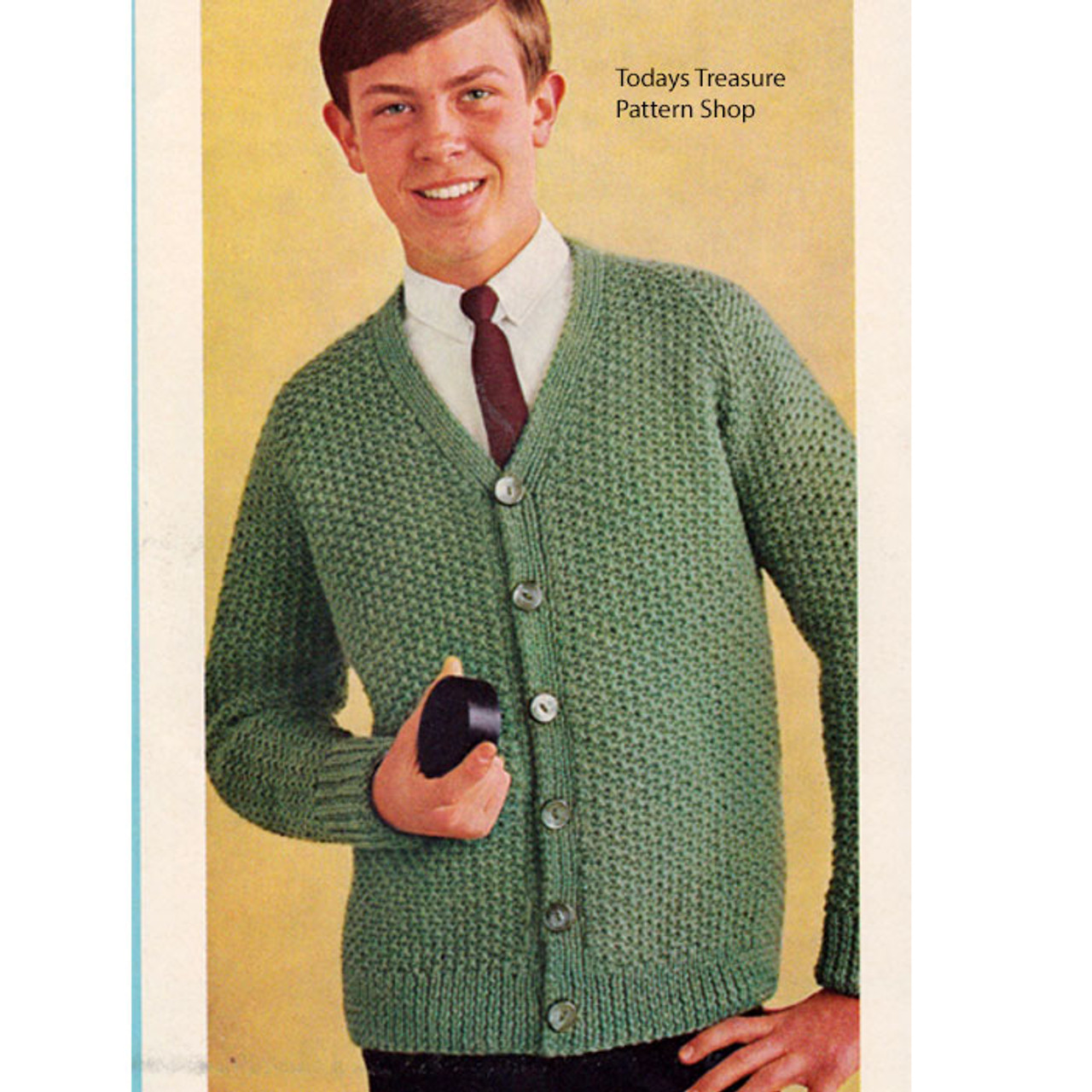 Vintage Boys Cardigan Knitting Pattern from McCalls
