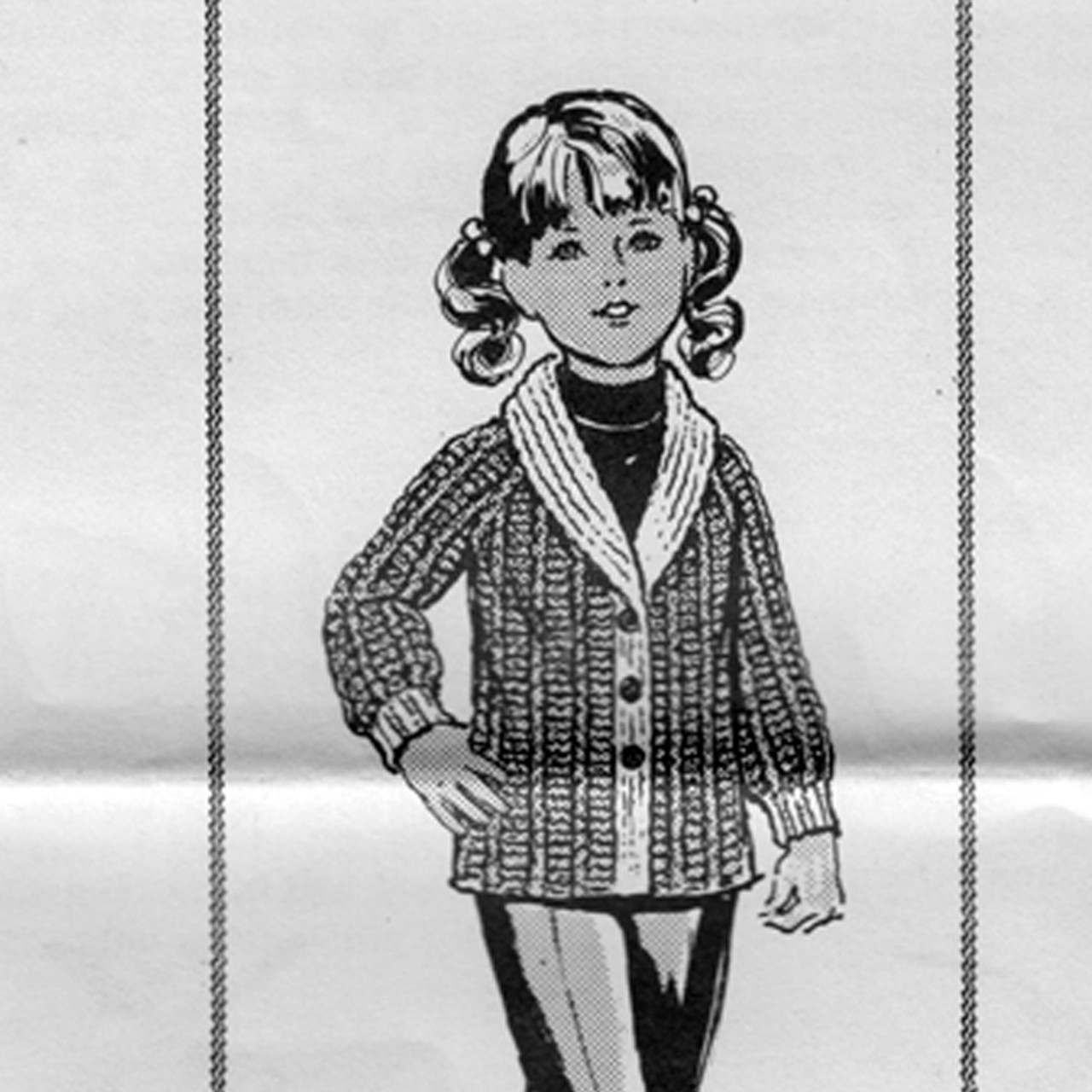 Knitting Pattern Girls Jacket, Mail Order 7357