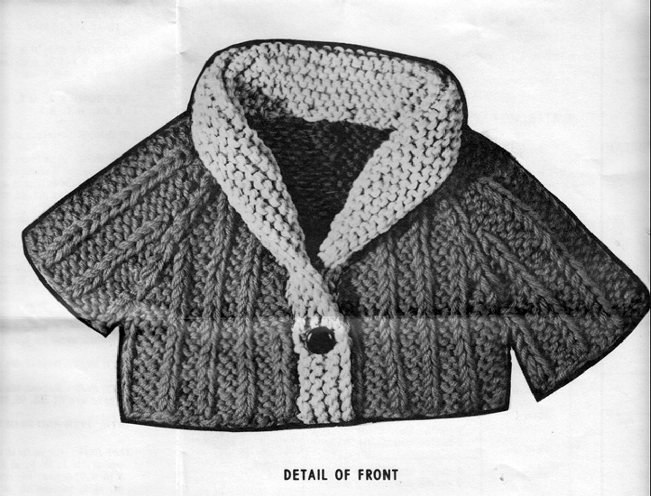 Knitted Shawl Collared Cardigan for Girls