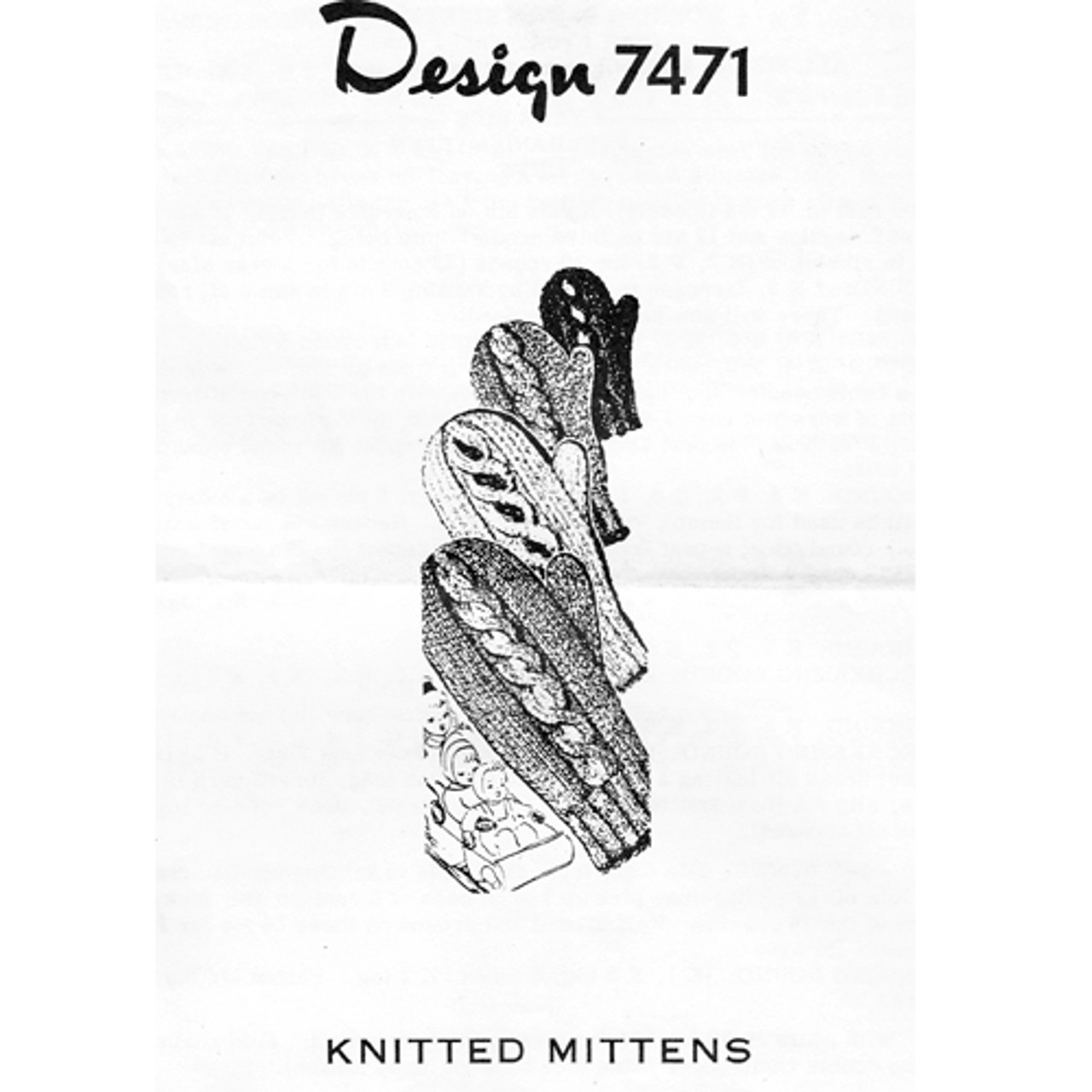 Childs Cable Mittens Knitting Pattern