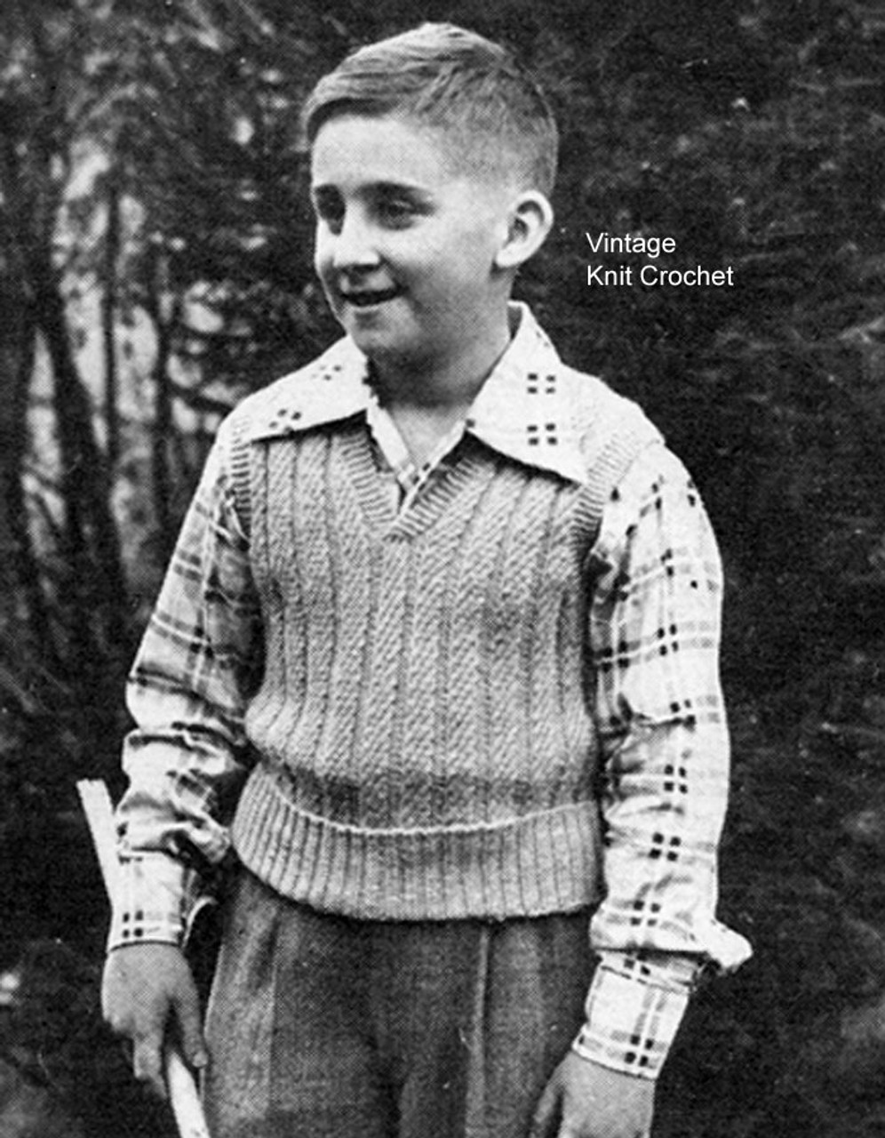 Knitted Boys Pullover Pattern