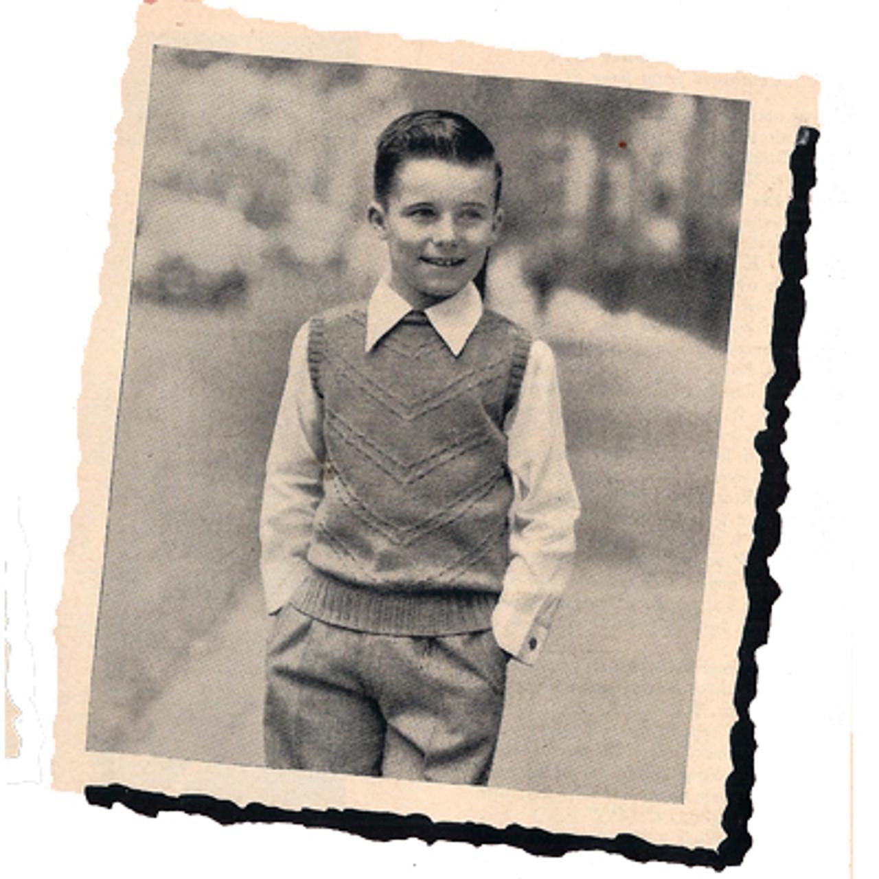 Knitting Pattern Boys Chevron Sleeveless Pullover Pattern