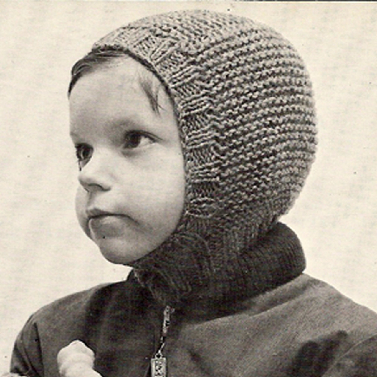 Boys Knitted Helmet Pattern from Columbia Minerva