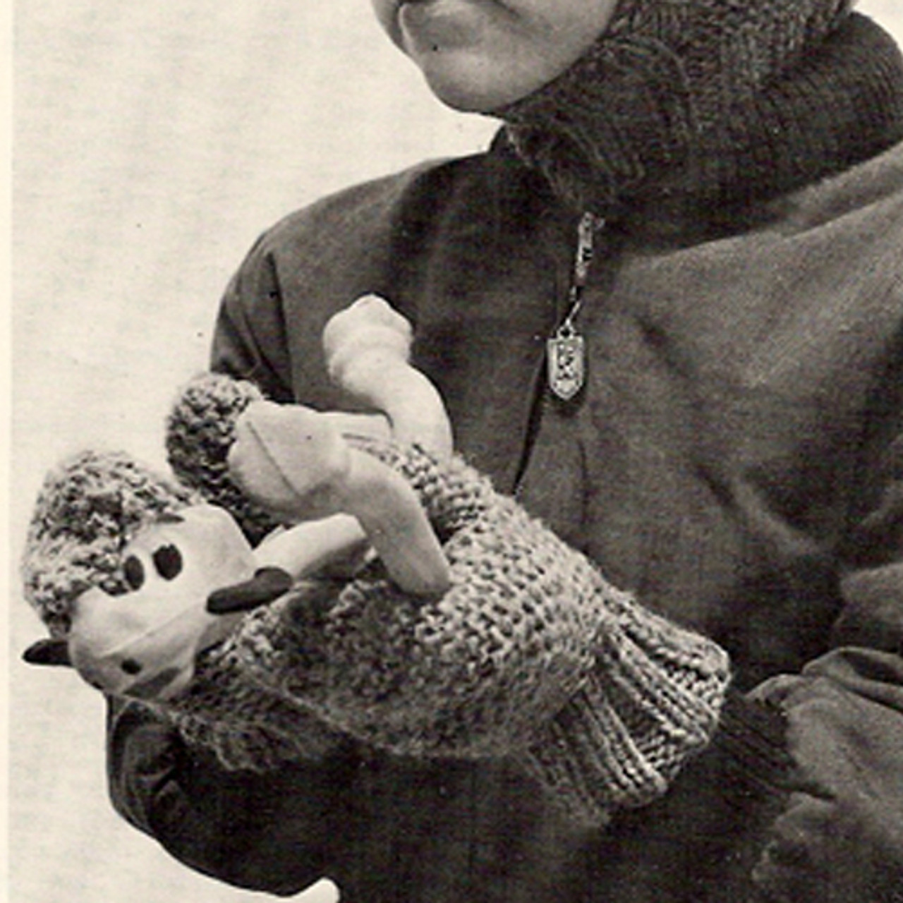 Kids Knitted Mittens Pattern