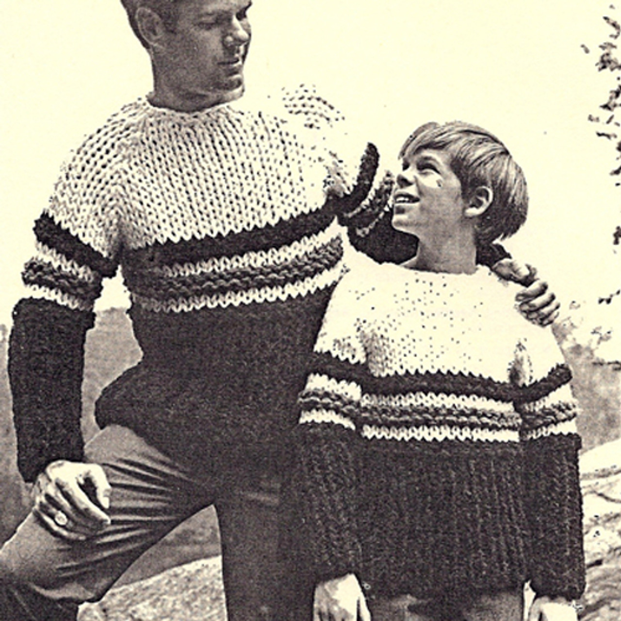 Boys Knitted Hockey Sweater Pattern with Big Needles