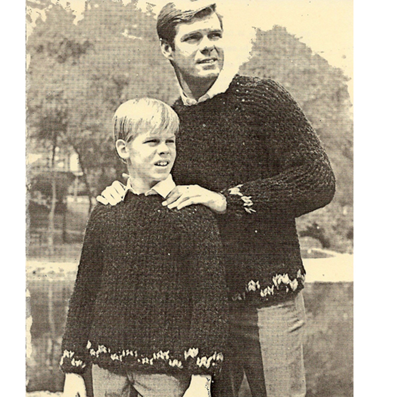 Boys Easy Big Needle Pullover Knitting Pattern