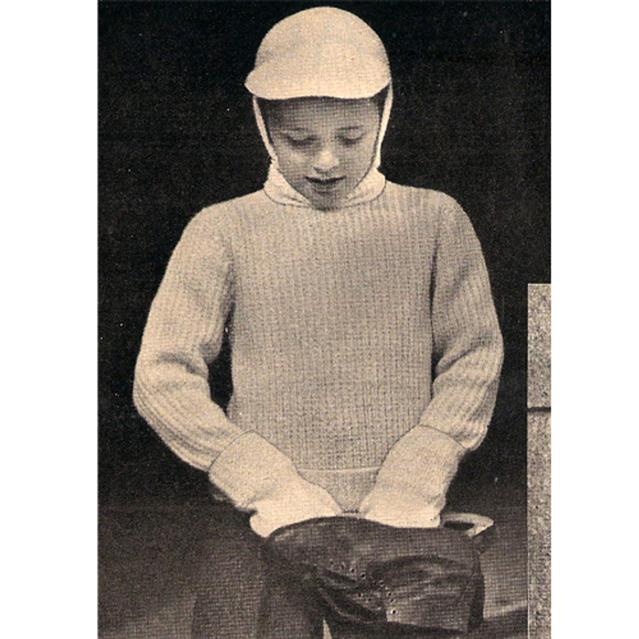 Boys Vintage Skating Outfit Pattern