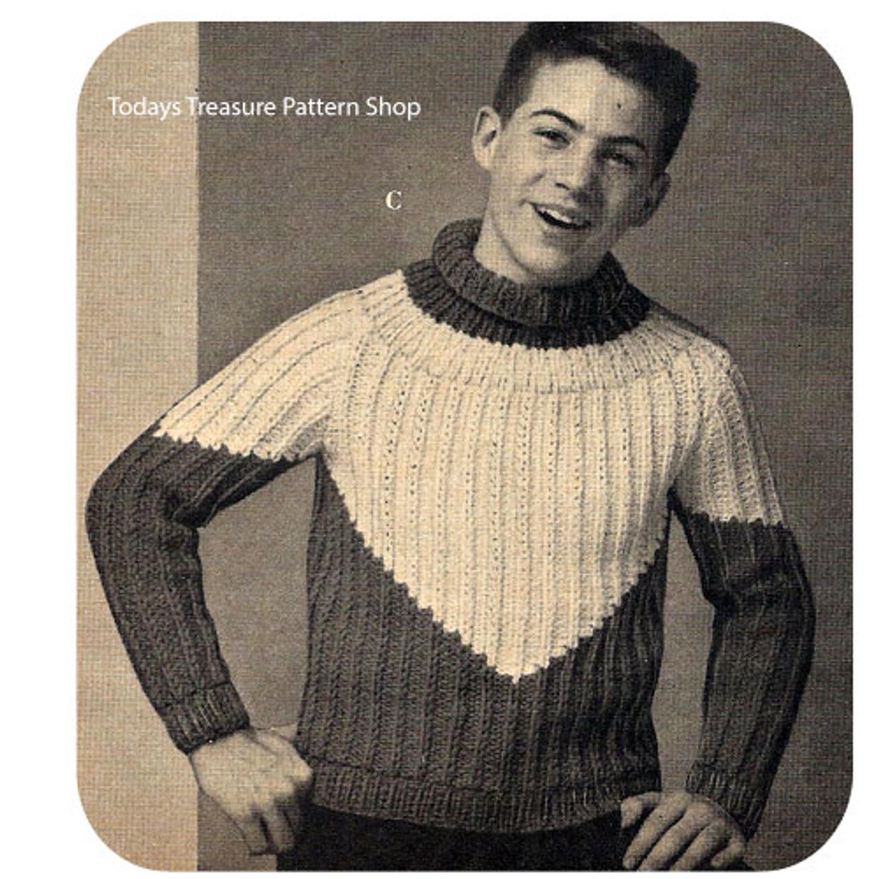 Knitting Pattern Boys Ribbed Pullover