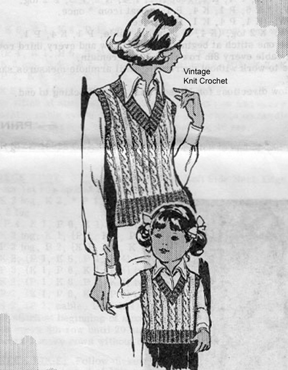 Childs Knitted Top pattern, Laura Wheeler 665 Mail Order