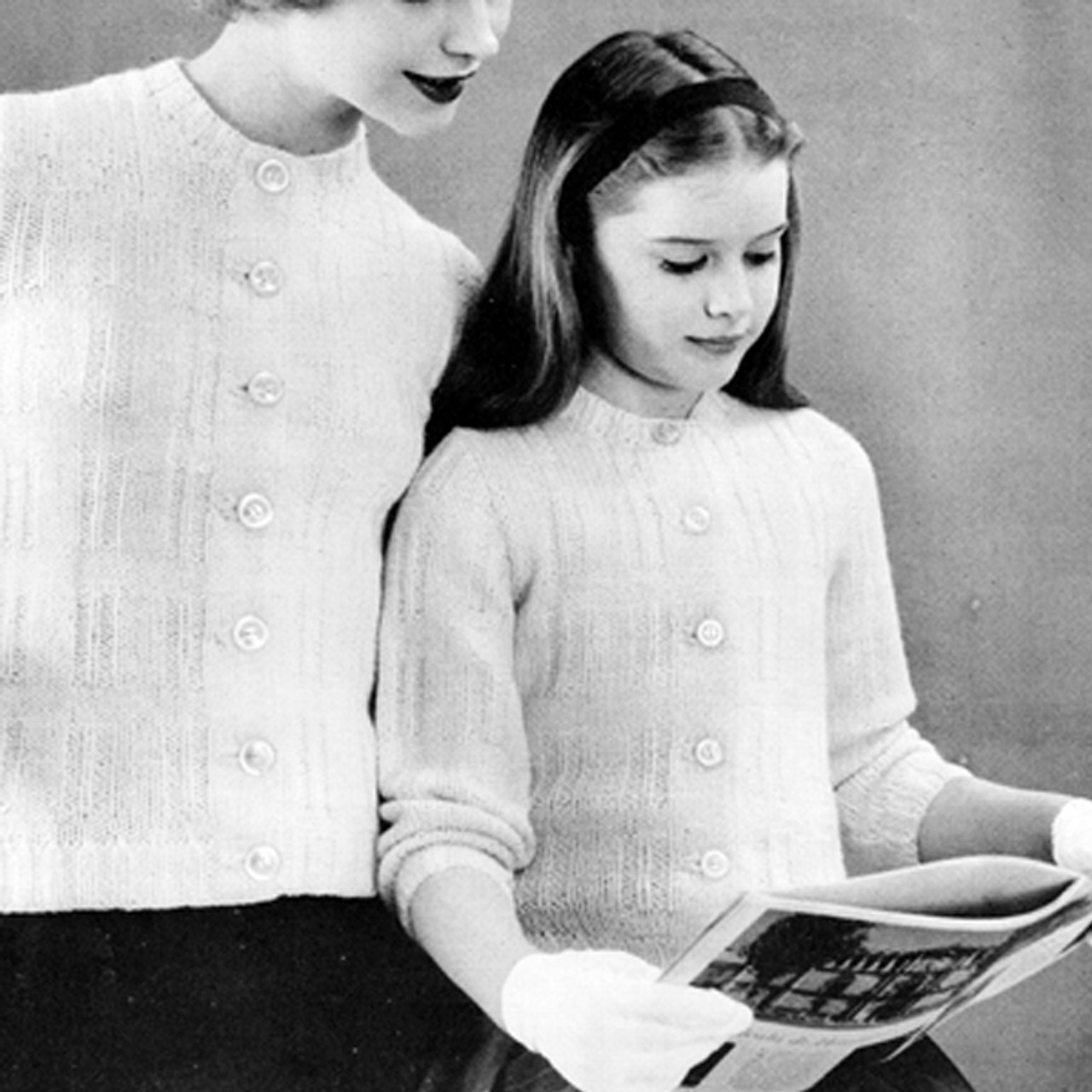 Girls Long Sleeve Pullover Pattern, Vintage 1950s