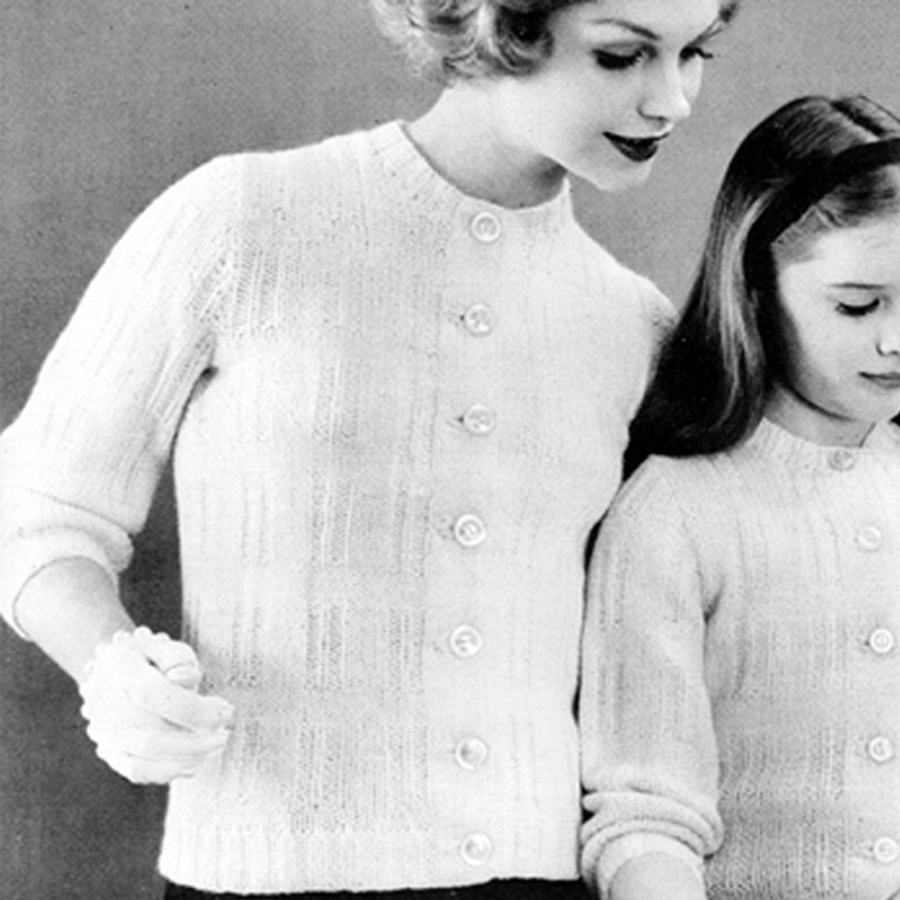 Womans Vintage Knit Pullover Pattern