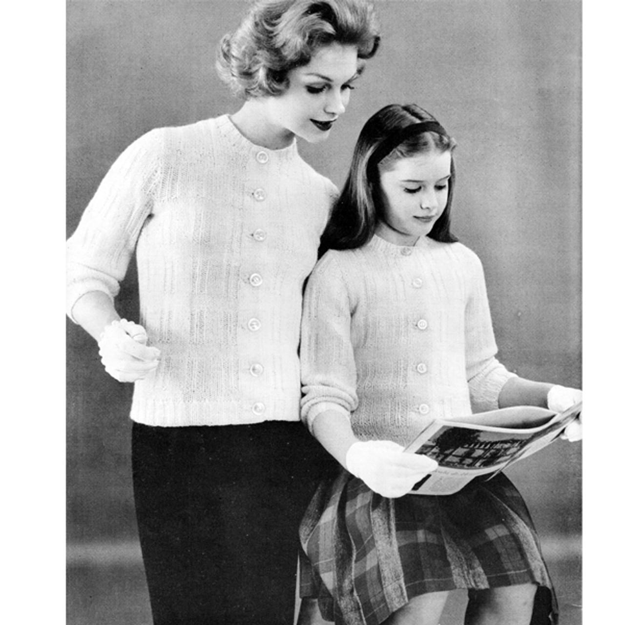 Vintage Long Sleeve Sweater Knitting Pattern