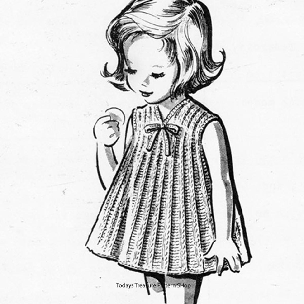 Vintage A-Line Girls Dress Pattern, mail Order 621