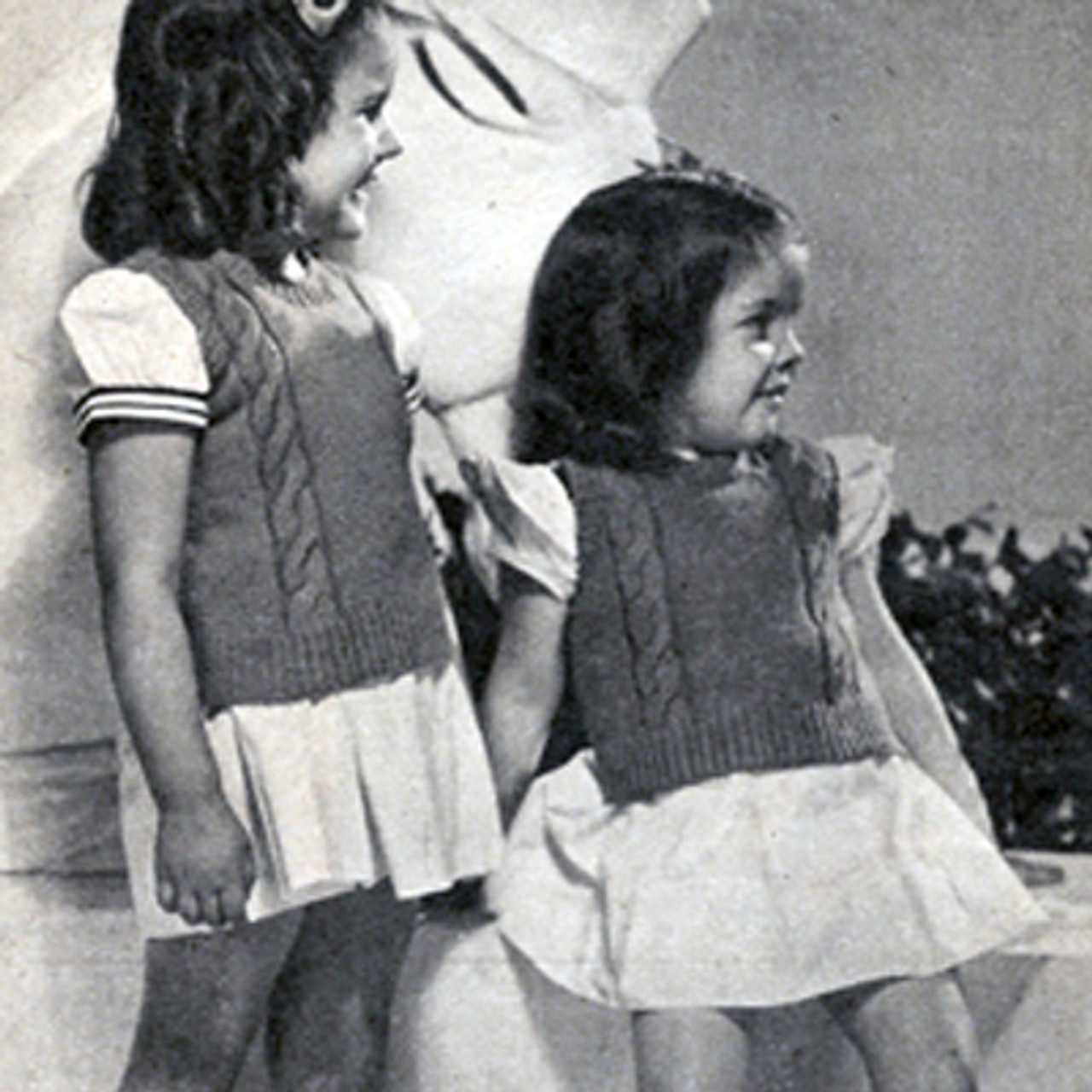 Vintage Girls Pullover Top Knitting Pattern