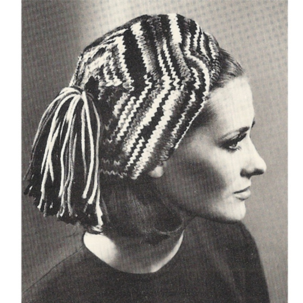 Girls Vintage Knitted Beret Pattern