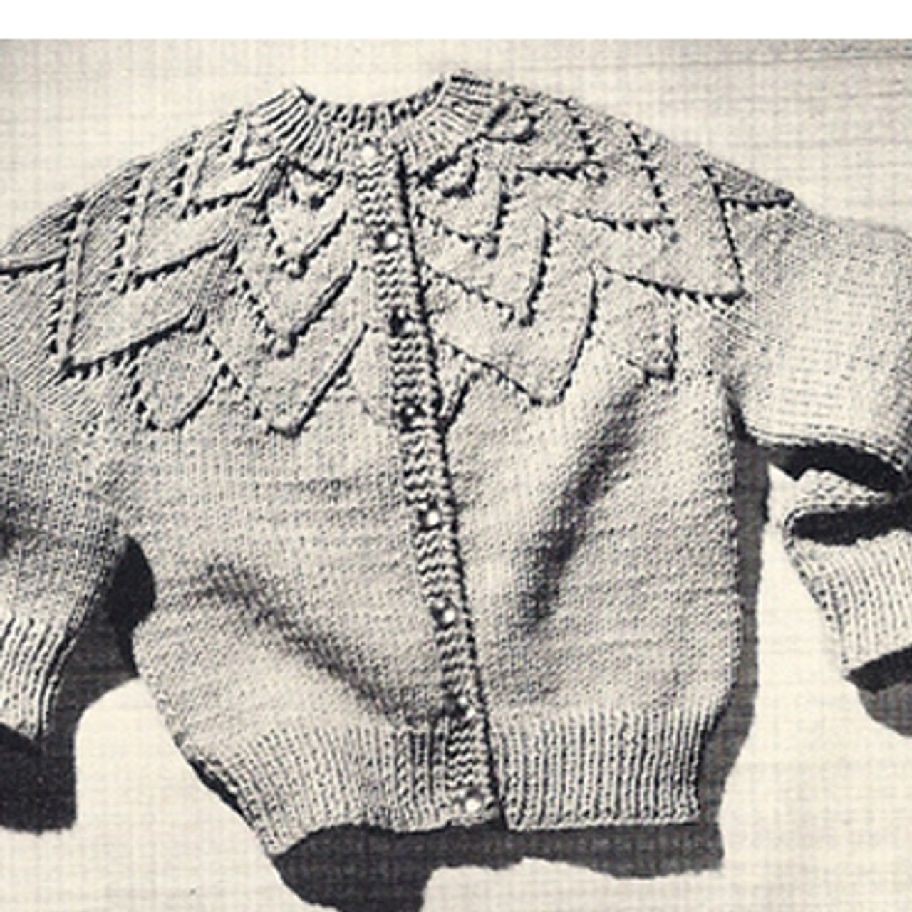 Vintage Coats Girls Petal Cardigan Knitting Pattern