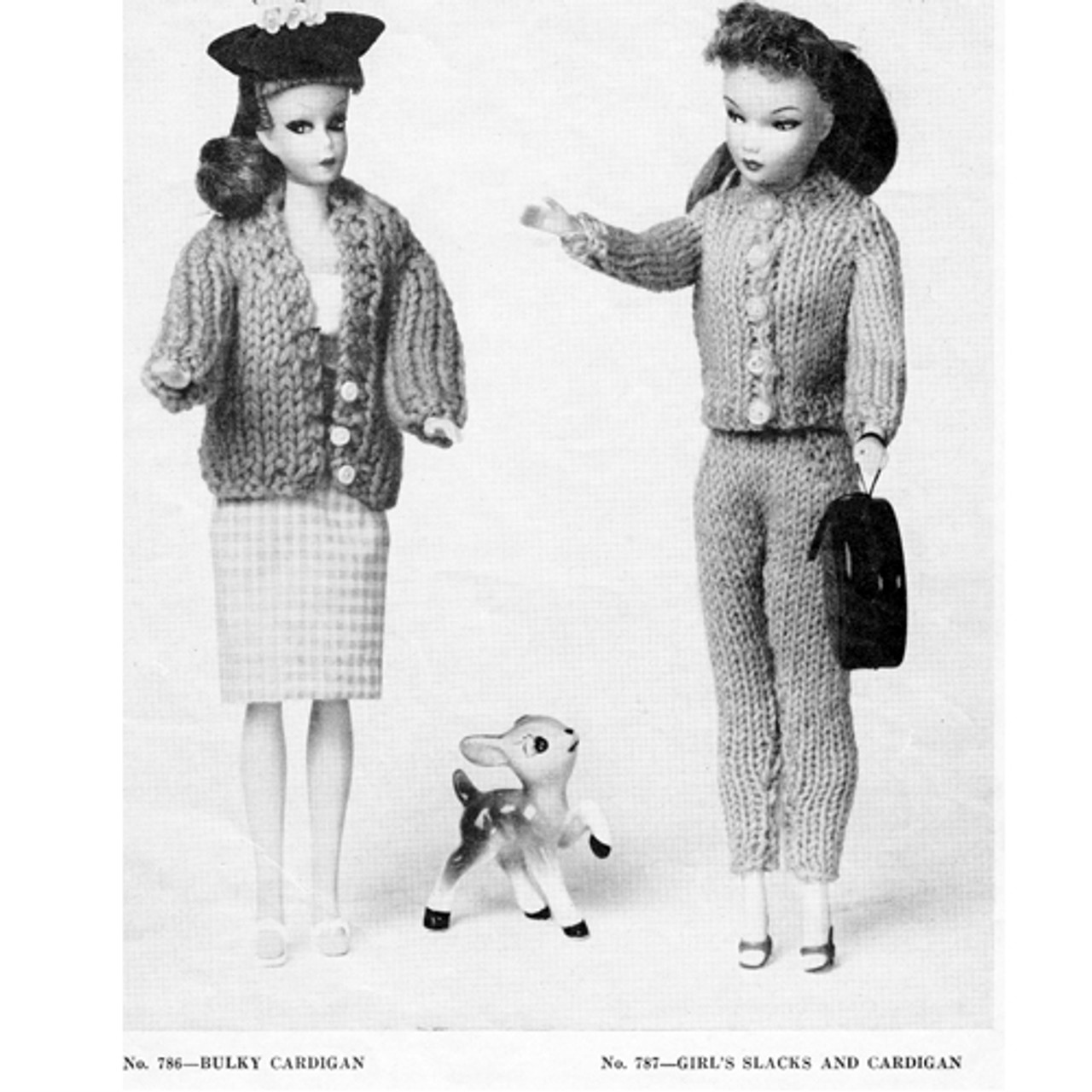 Vintage Knit Barbie Doll Outfit Patterns