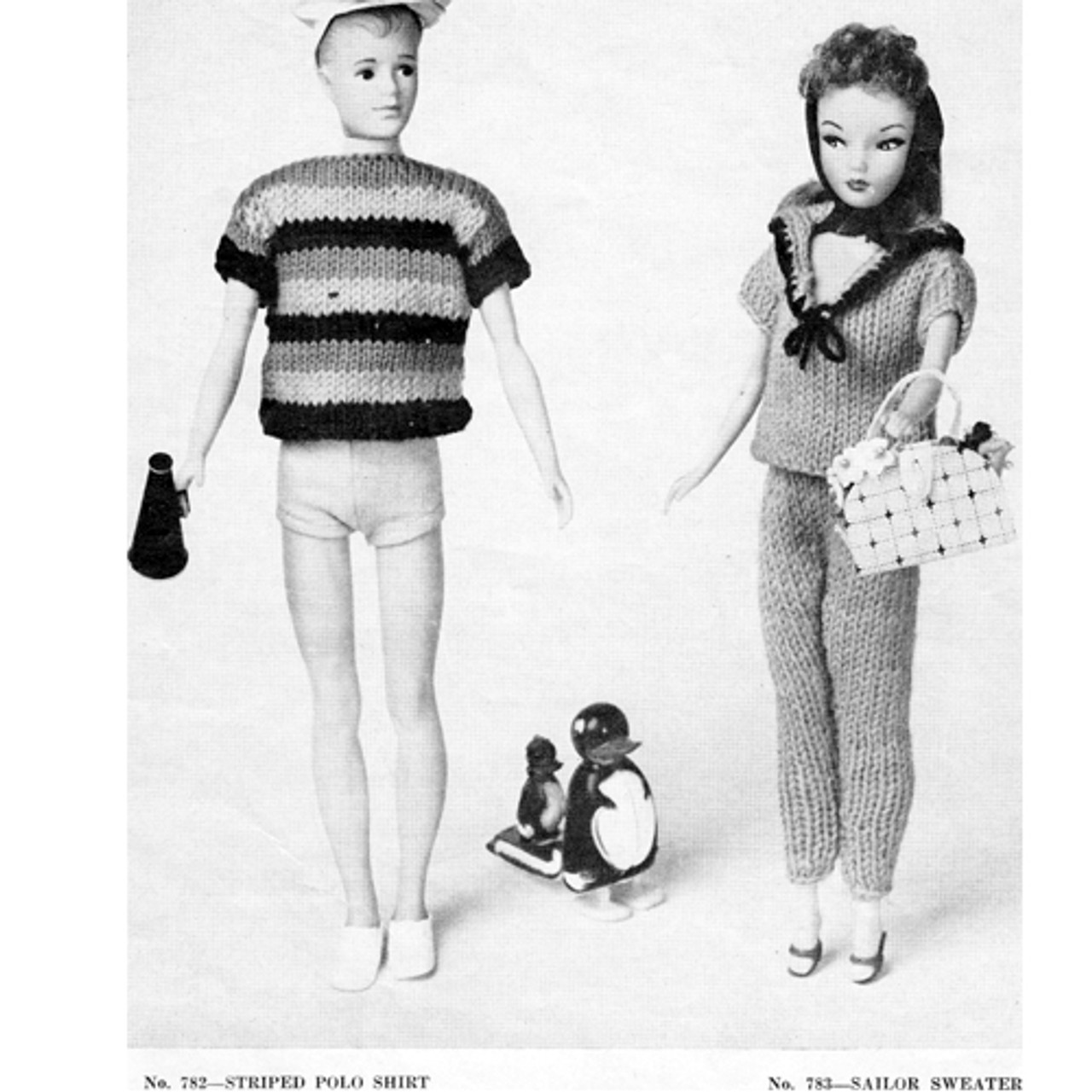 Vintage Knit Barbie Doll Clothes Pattern