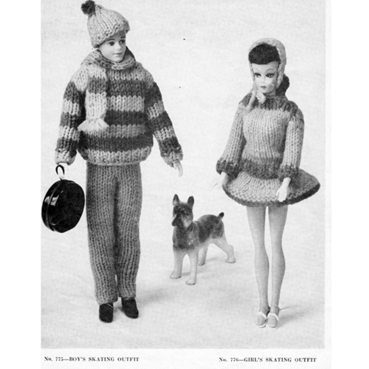 Ken Barbie Skating Outfits Knitting Pattern
