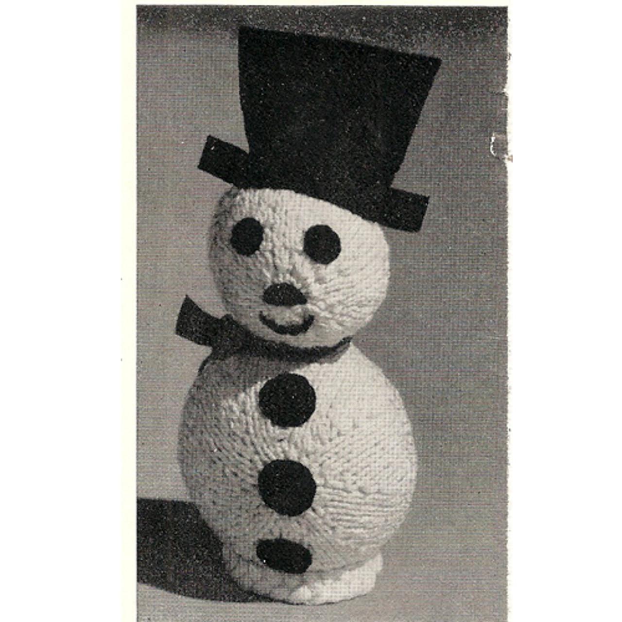 Snowman Doll Free Knitting Pattern