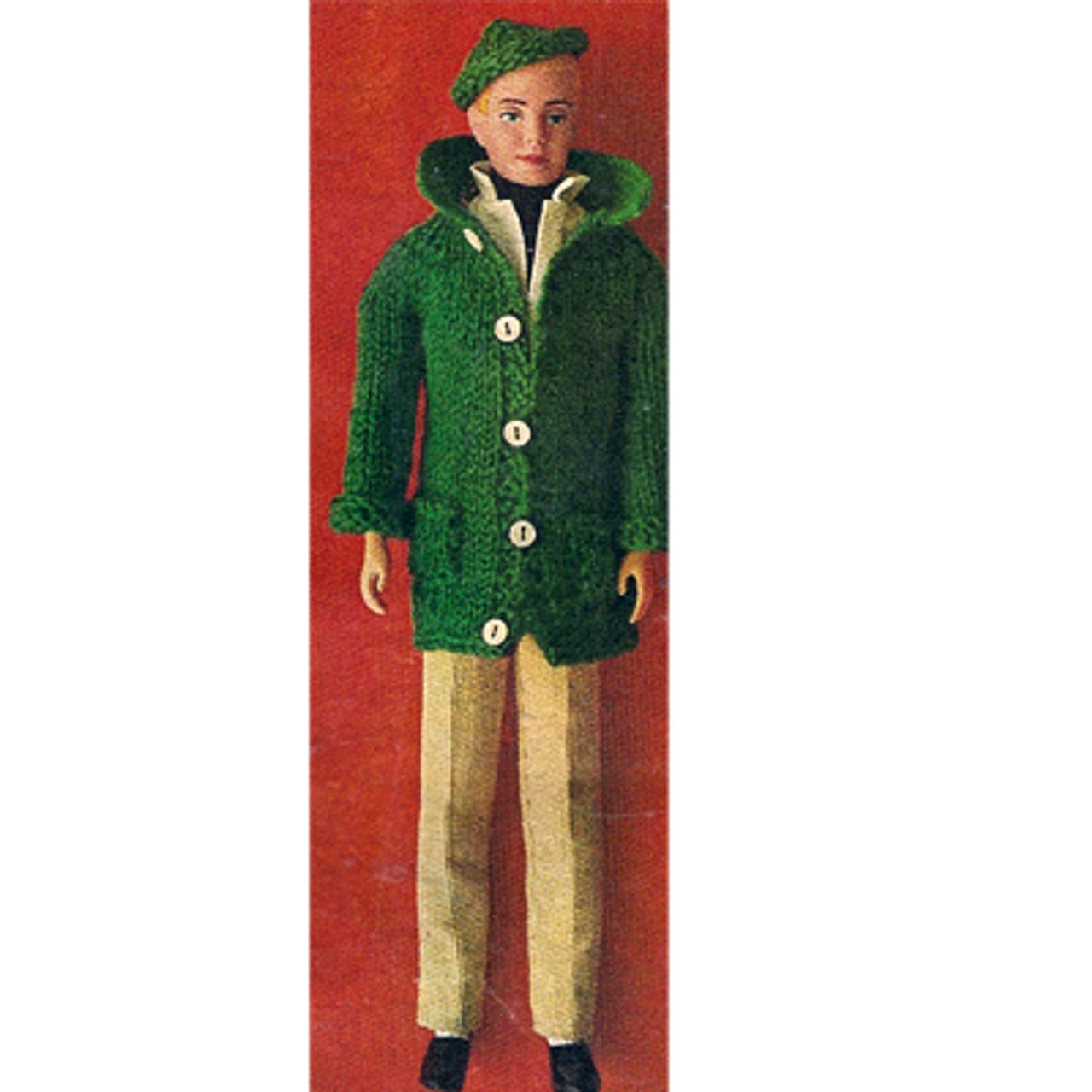 Ken Doll Knit Coat Pants Pattern