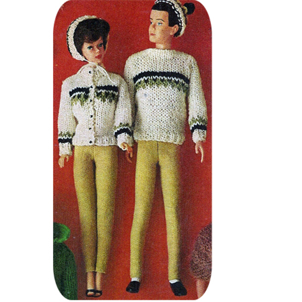 Ken Barbie Doll Knitted Ski Outfits Pattern