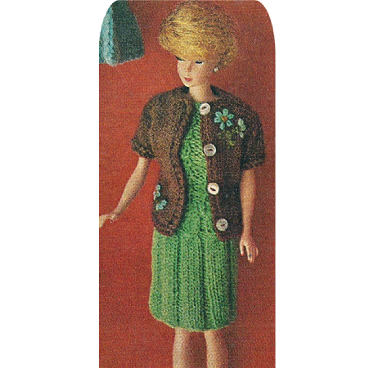 Barbie Doll Knitted Dress Jacket Pattern