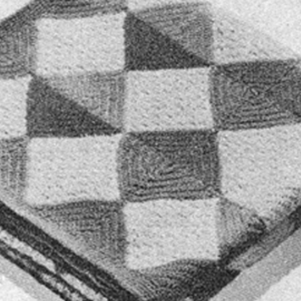 Vintage Diamond Crochet Afghan in Wool