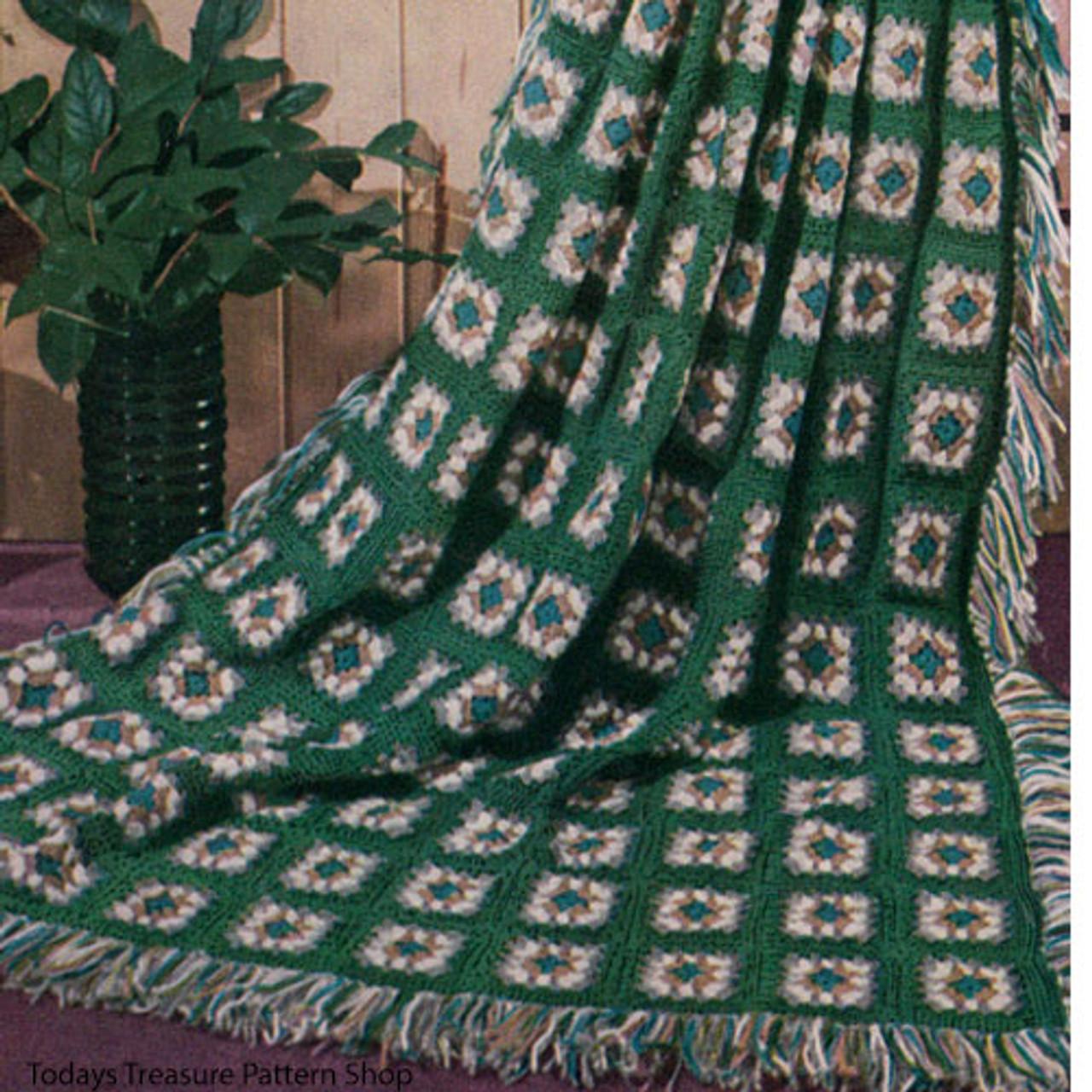 Vintage Old Granny Afghan Crochet Pattern