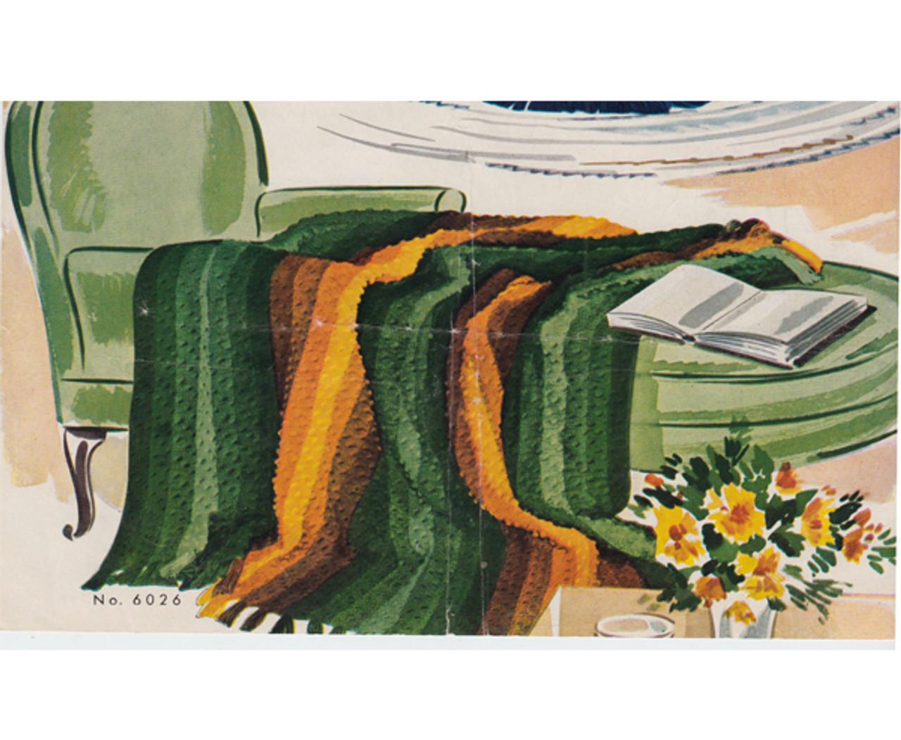 Vintage Vanity Fair Afghan Crochet Pattern Leaflet