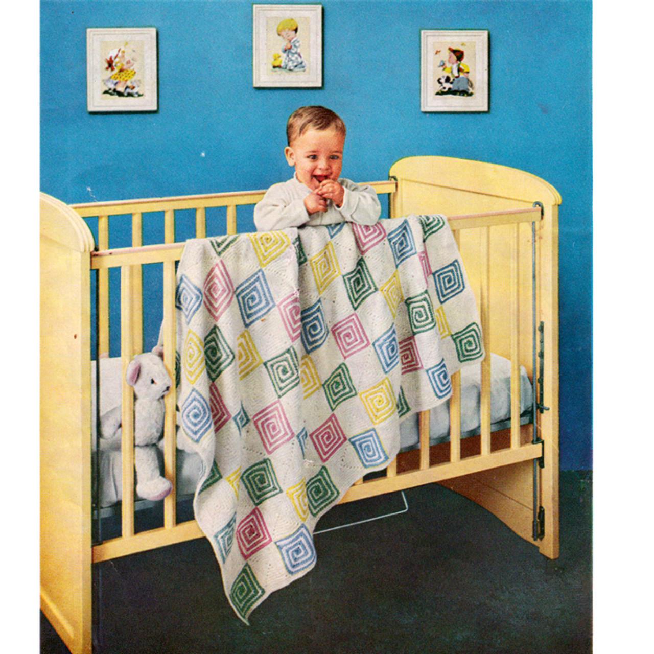 Vintage Sugar N Spice Baby Blanket Crochet Pattern