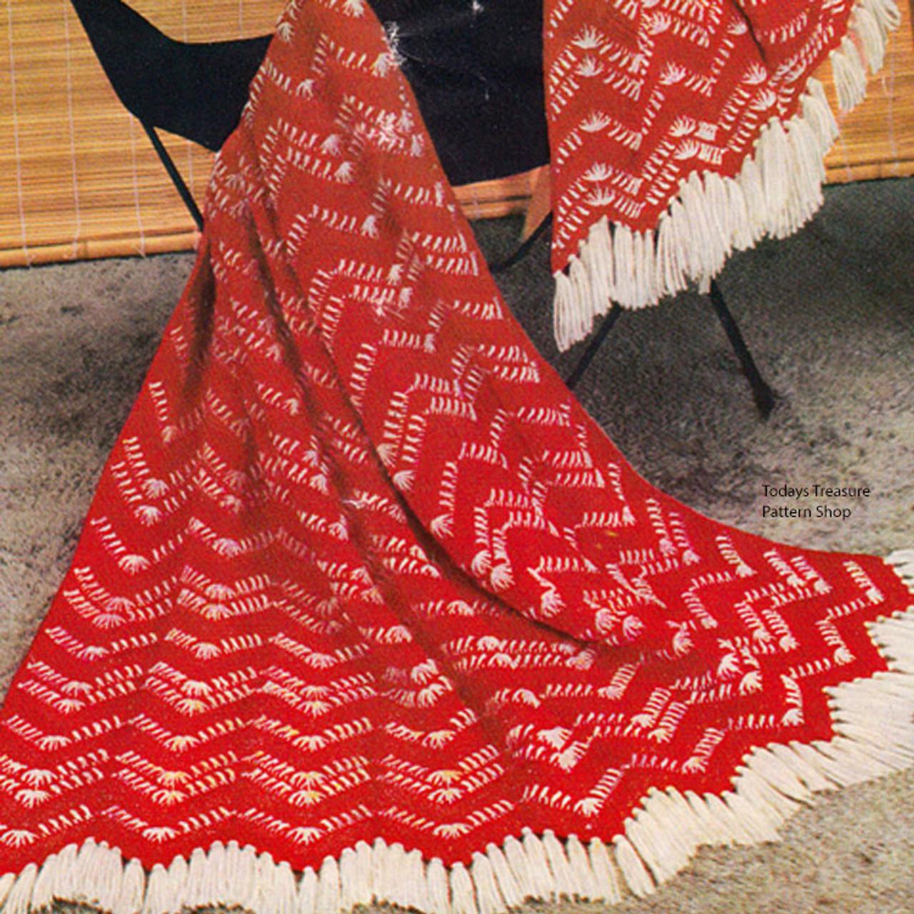 Vintage California Ranch Crocheted Afghan Pattern