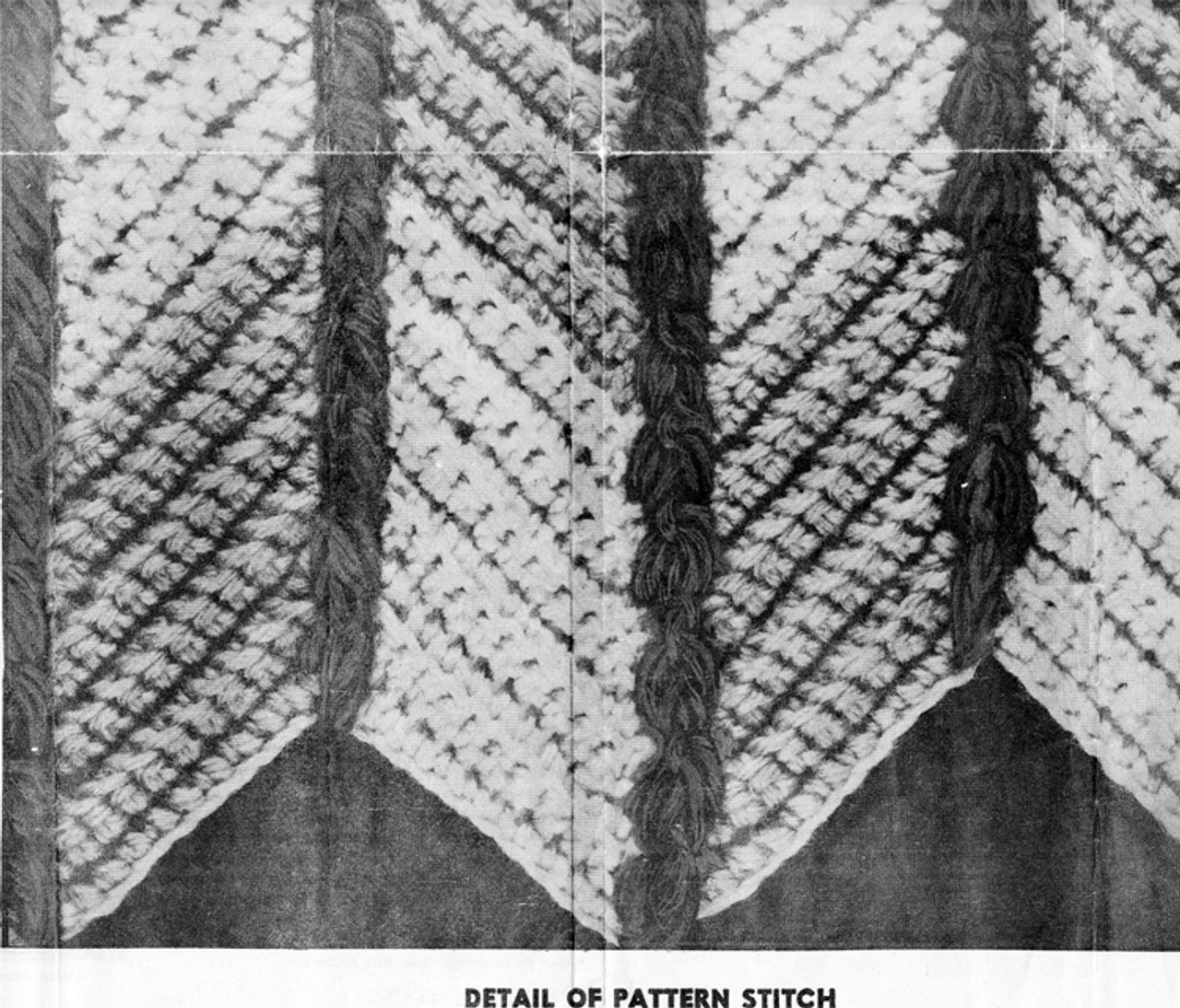 Crochet Afghan Square Illustration
