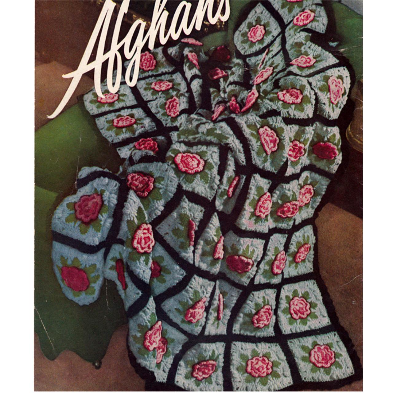 Floral Afghan Crochet Pattern, Charleston Garden