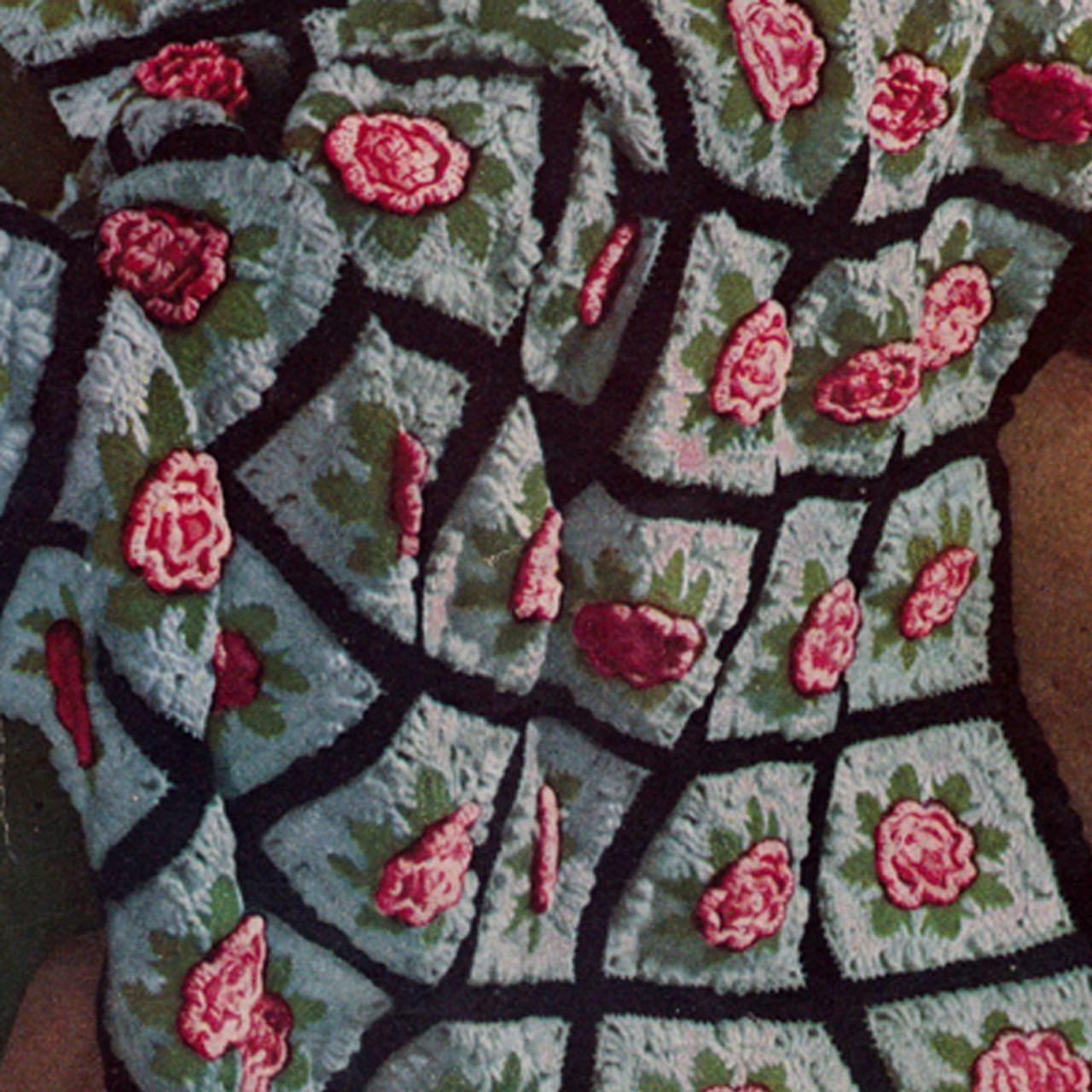Charleston Garden Flower Block Afghan Crochet pattern