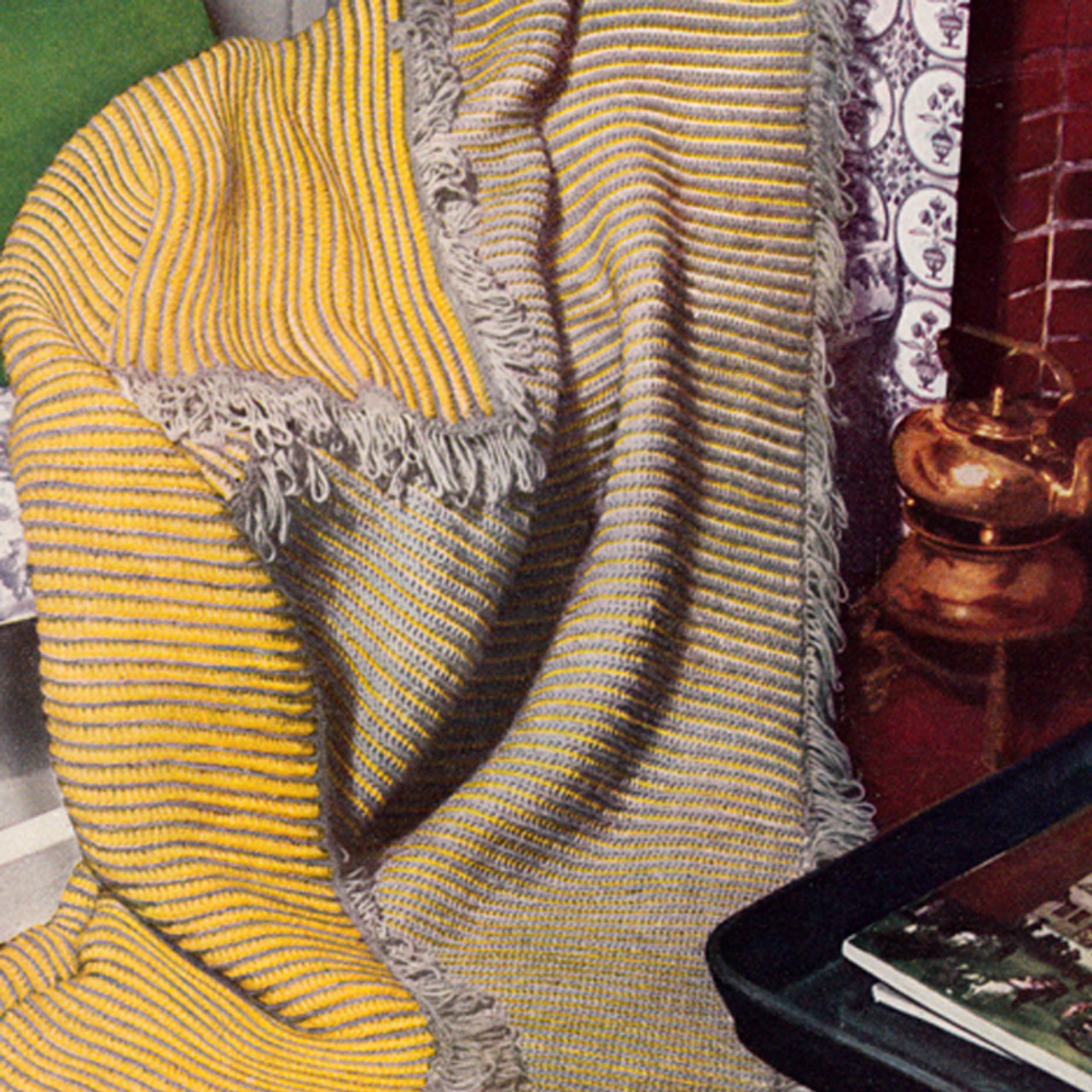 Two Color Reversible Crochet Afghan Pattern