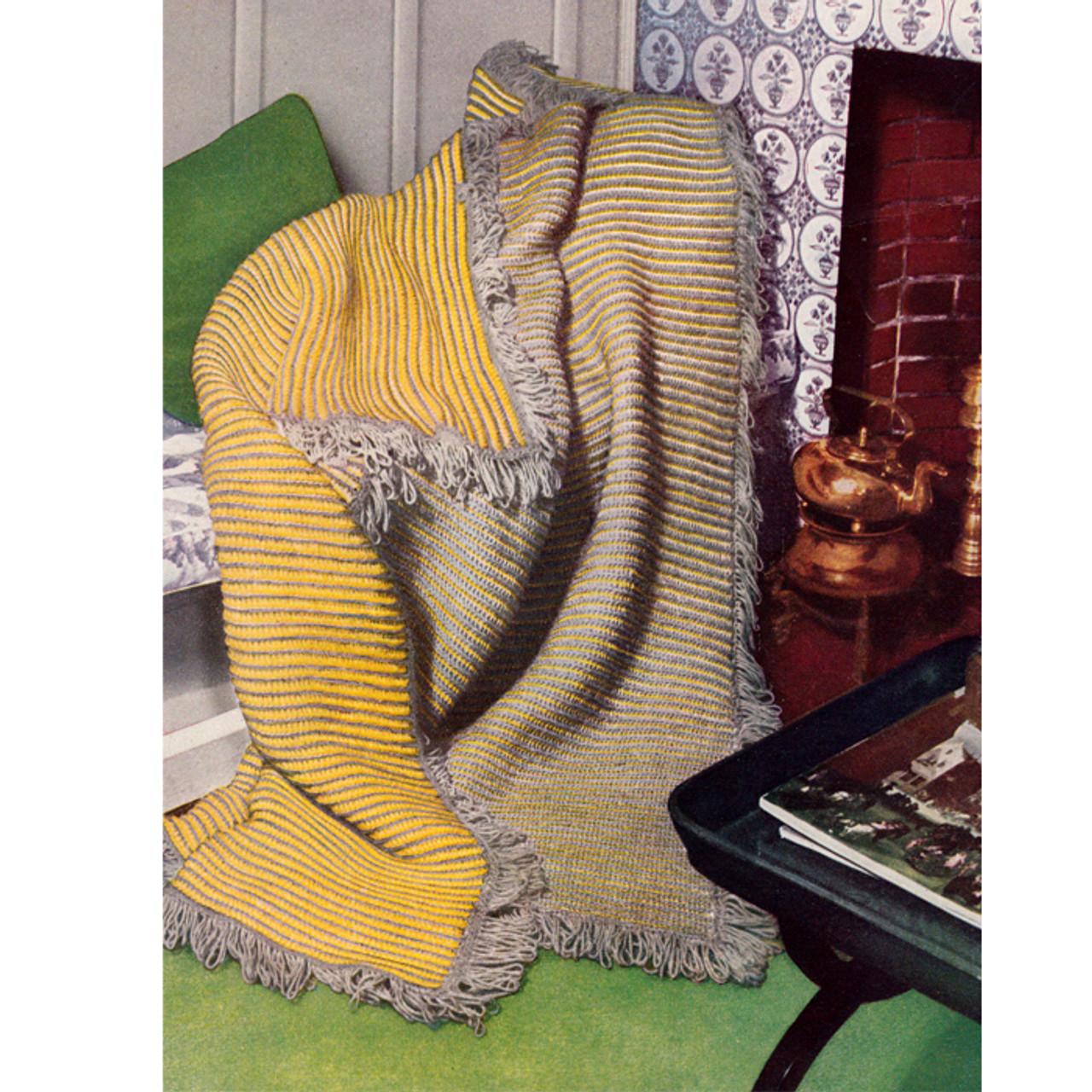 Vintage Crochet Reversible Afghan Pattern