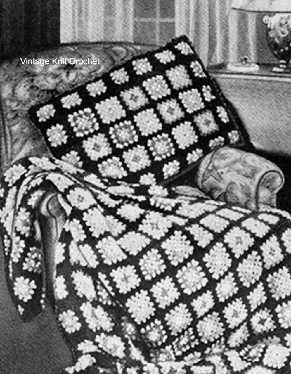 Easy granny afghan crochet pattern in Zephyr yarn