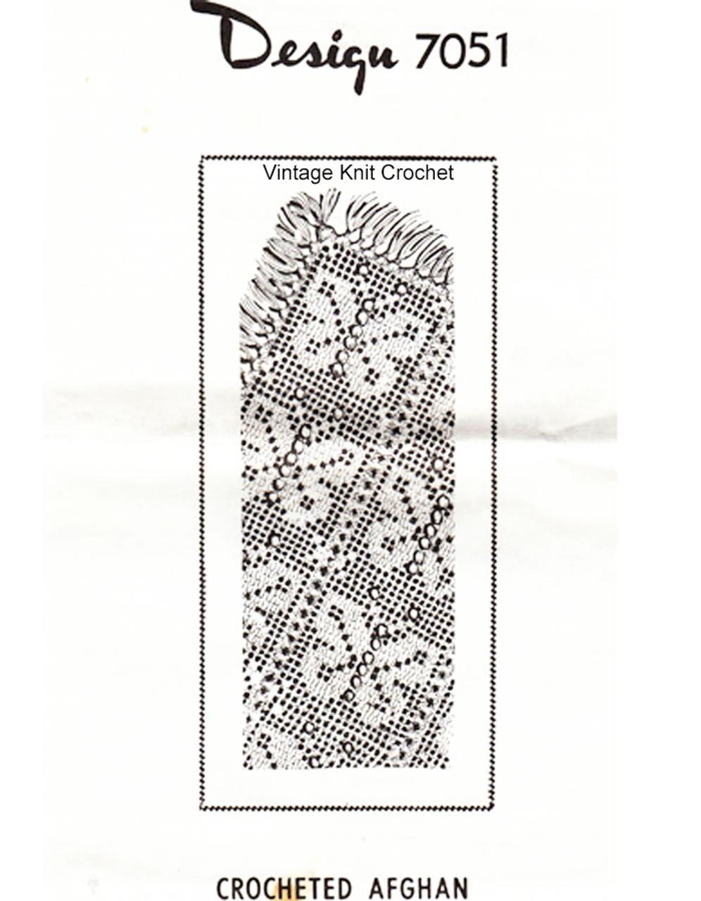 Butterfly Afghan Crochet Pattern, Alice Brooks 7051