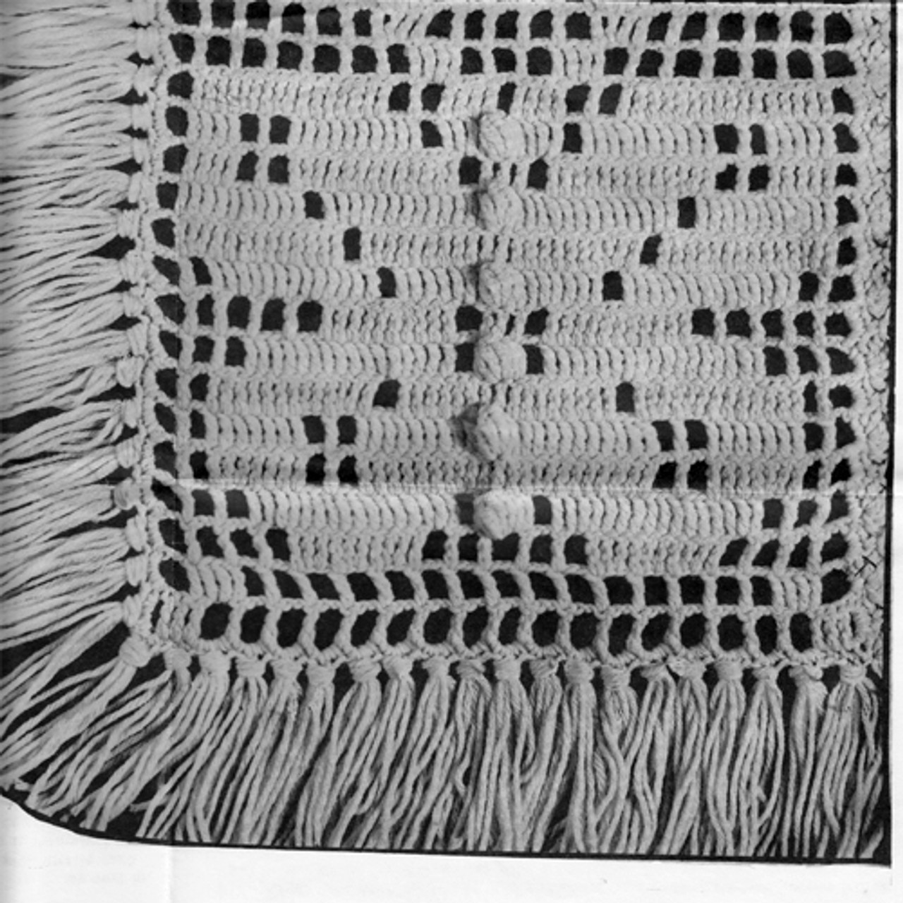 Butterfly Crochet Block for Afghan