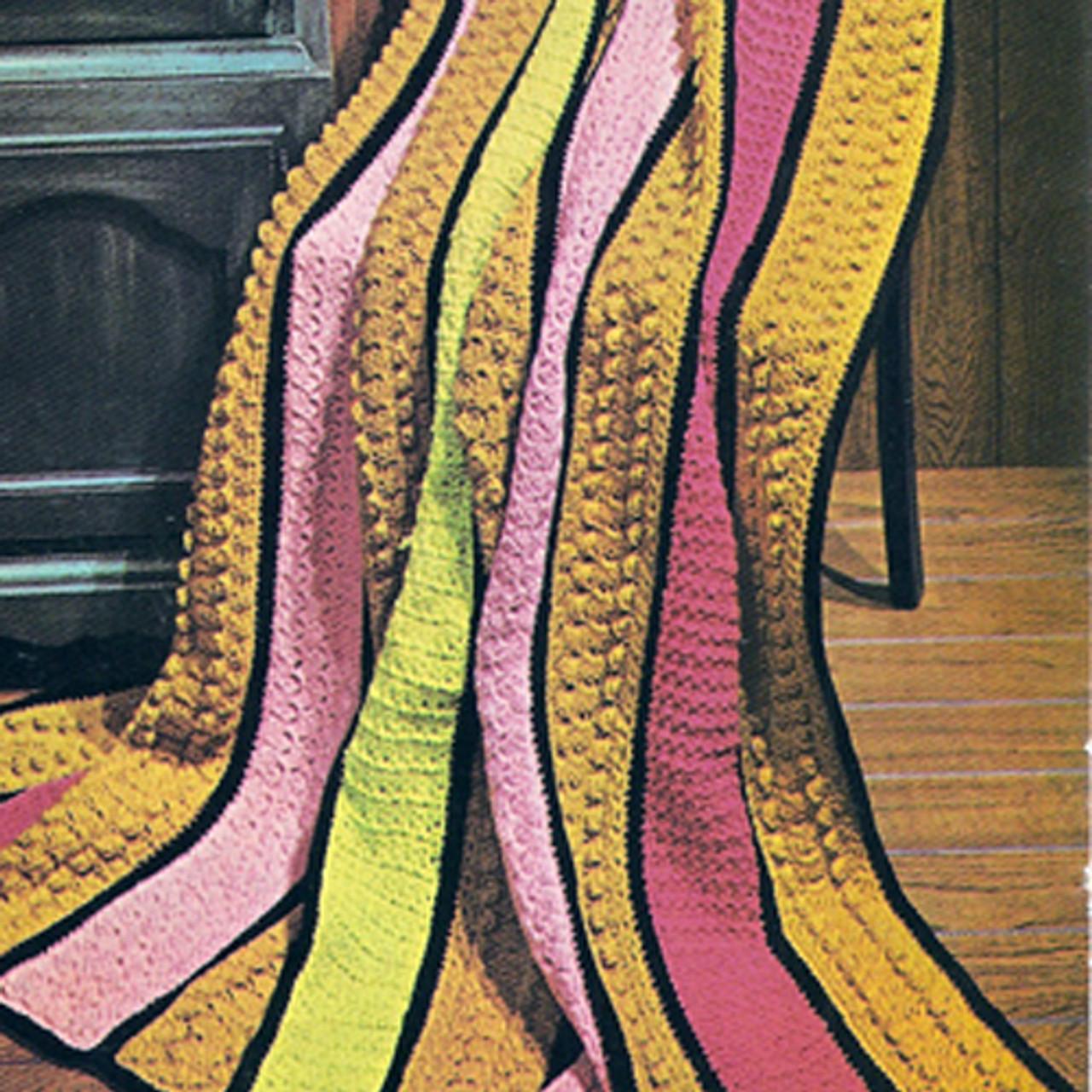 Beginners Crochet Striped Afghan Pattern