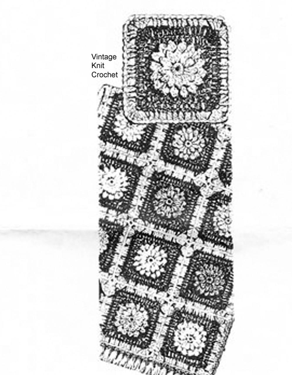 Mail Order Crochet Flower Afghan Pattern, Design 547
