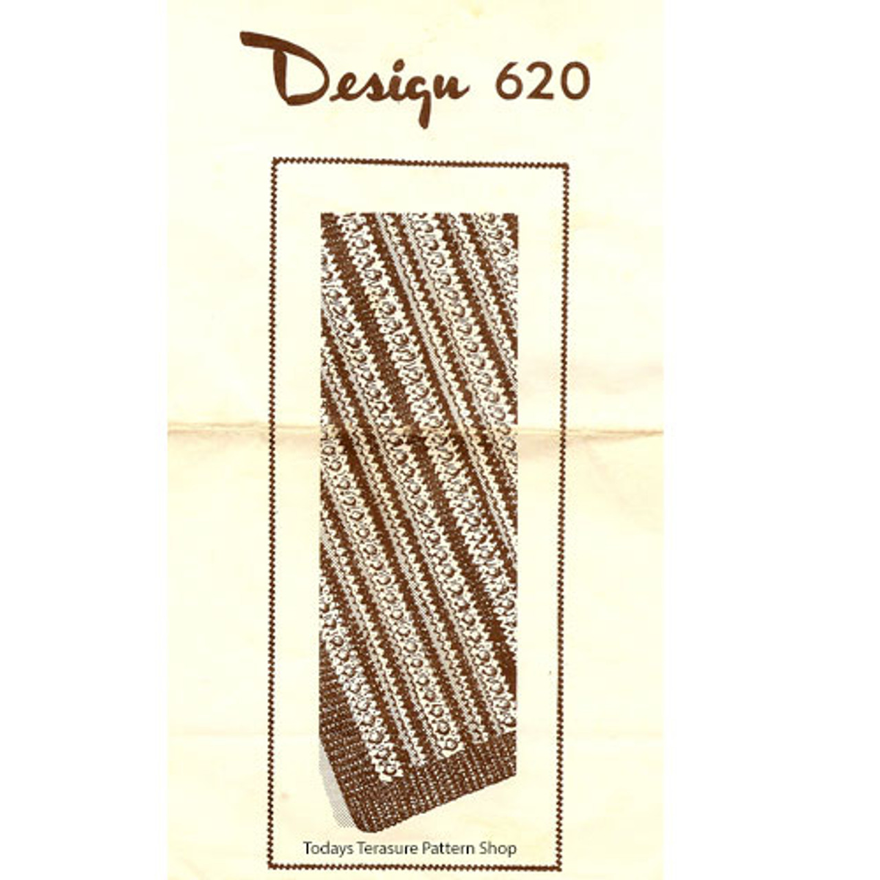 Crochet Striped Afghan Pattern, Popcorns, Mail Order 620