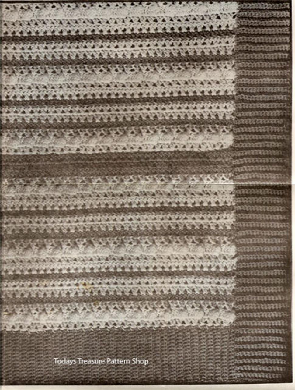 Crochet Striped Afghan Pattern Design 620