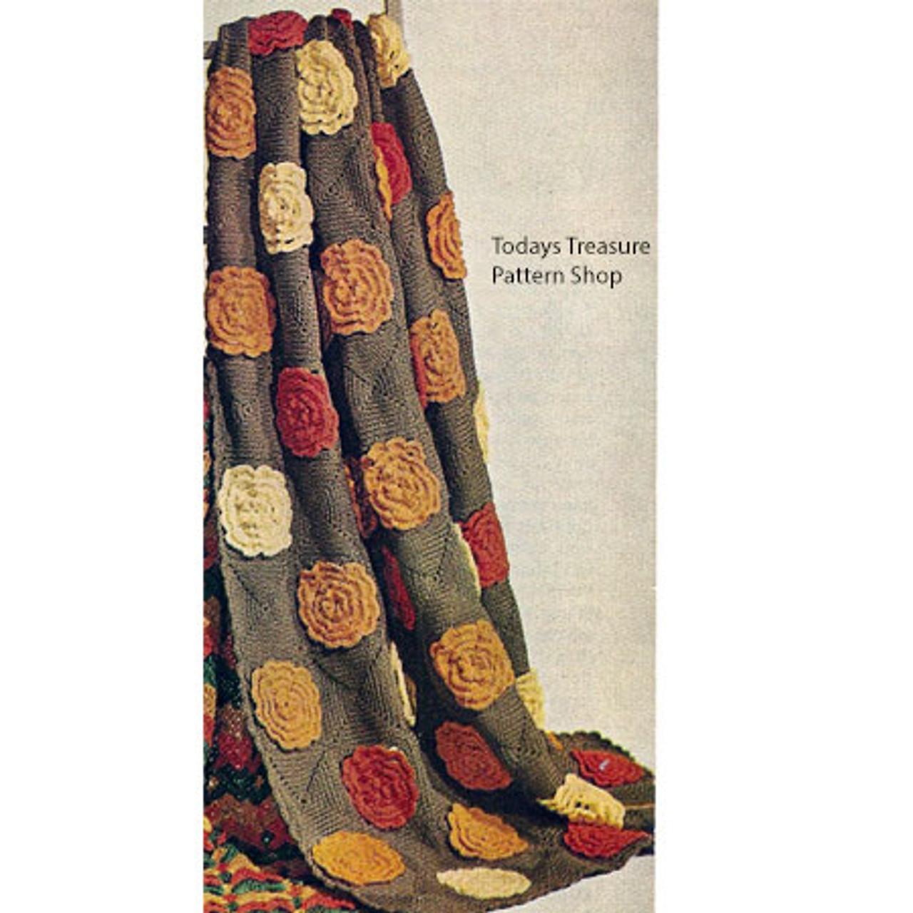 Flower Square Block Crochet Afghan Pattern