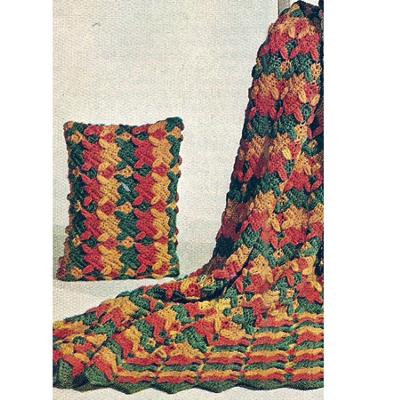 Vintage Ripple Crochet Pattern with Overleaf