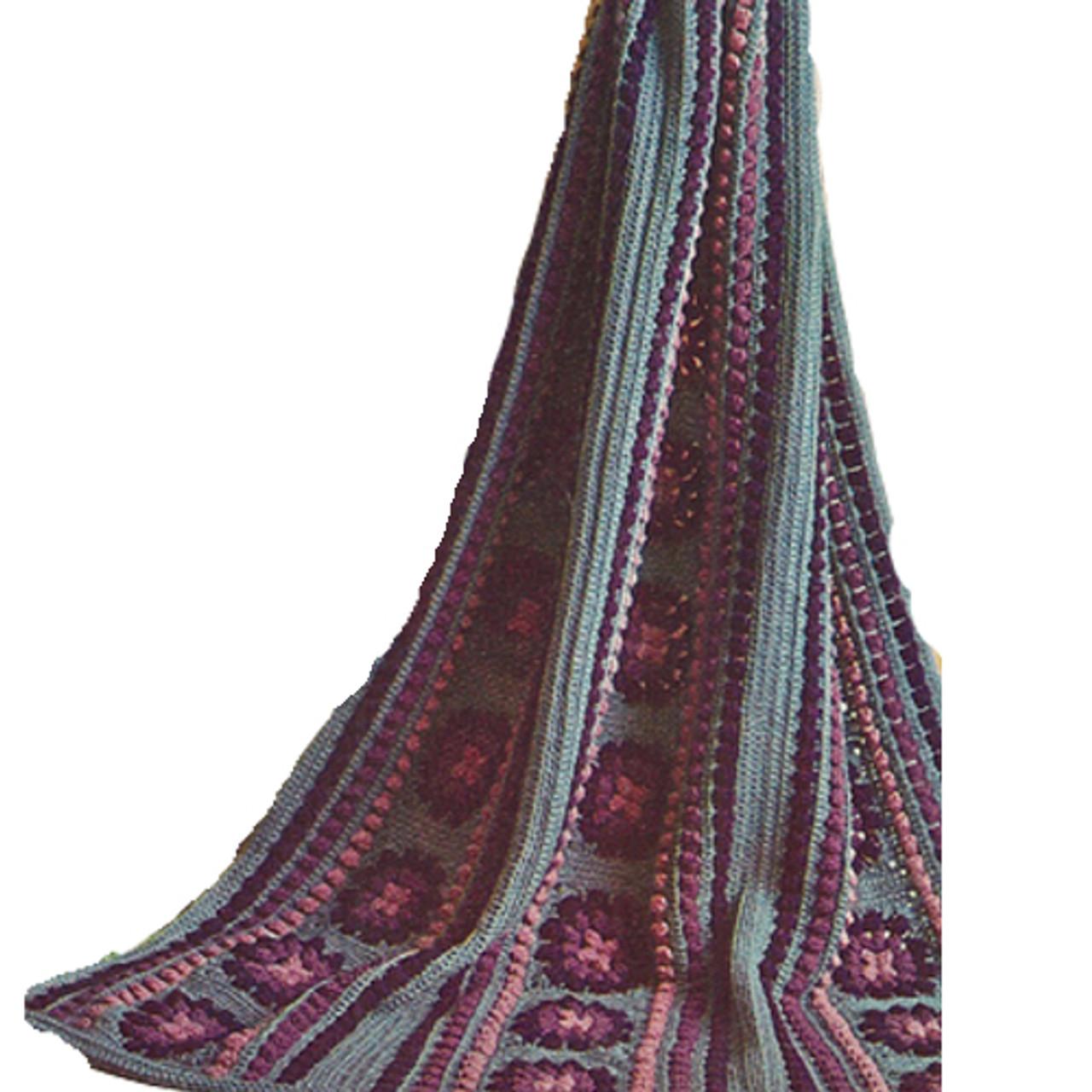 Crochet Afghan Pattern in Striped Panels