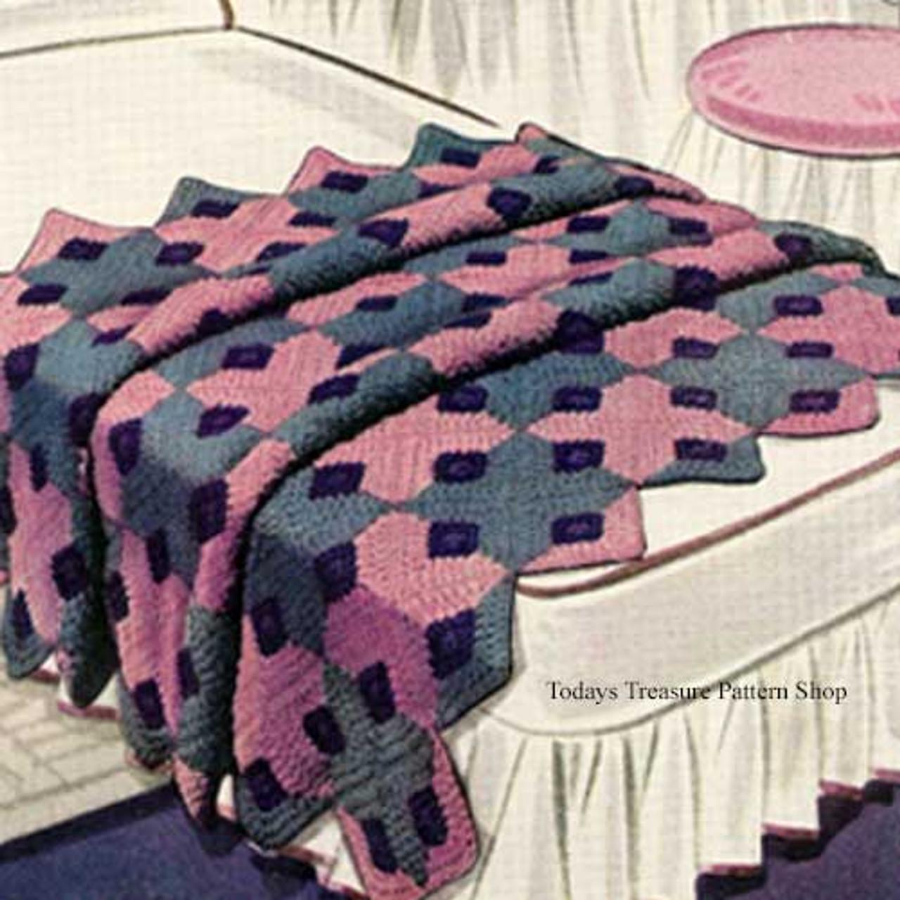 Vintage 1930's Crochet Afghan Pattern Caprice