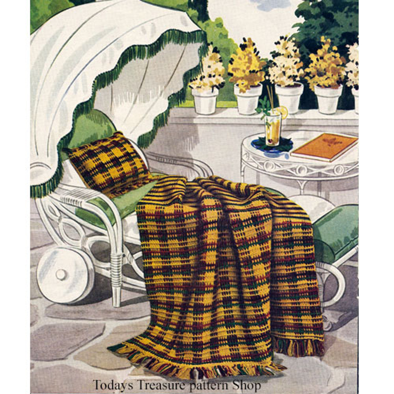 Fringed Tartan Crochet Afghan Pattern